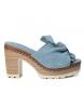 Sandalia de piel 066717 jeans -Altura tacón: 10cm-