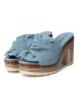Comprar Carmela Sandalia de piel 066717 jeans -Altura tacón: 10cm-