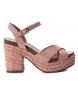 Sandalia de piel 066733 nude -Altura tacón: 11cm-