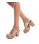 Comprar Carmela Leather sandal 066733 taupe -Heel height: 11cm