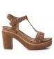 Sandalias de piel 066687 camel -Altura tacón: 10cm-