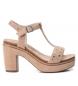 Compar Carmela Sandales en cuir 066687 nue - hauteur talon : 10cm