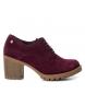 Compar Carmela Zapato de piel burdeos -Altura tacón: 7cm-