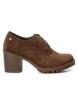 Compar Carmela Zapato de piel camel -Altura tacón: 7cm-