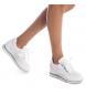 Comprar Carmela Zapatillas de piel Greta blanco -Altura cuña: 5cm-