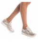 Comprar Carmela Pantofola in pelle 066705 oro - Altezza cuneo: 4cm