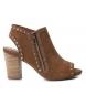 Sandalias de piel 066798 camel -Altura tacón: 8cm-