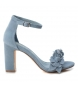 Sandalias de piel 066631 jeans  -Altura tacón: 10cm-