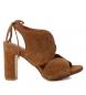 Sandalias de piel 066632 camel  -Altura tacón: 10cm-