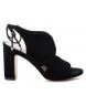 Sandalia de piel tacón 066632 negro -Altura tacón: 10cm-