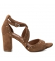 Compar Carmela Leather sandals 066682 camel -heel height: 8cm