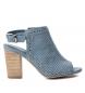 Sandalias de piel 066681 jeans -Altura tacón: 9cm-