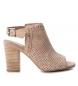 Sandalias de piel 066681 nude  -Altura tacón: 9cm-