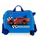 Maleta correpasillos 2 ruedas multidireccionales McQueen Azul -38x50x20cm-