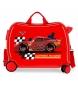 Maleta correpasillos 2 ruedas multidireccionales McQueen Roja  -38x50x20cm-
