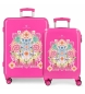 Comprar Catalina Estrada Set of suitcases 34L-70L Fuchsia rigid fan -38x55x20cm / 48x68x26cm