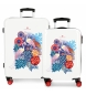 Juego de maletas 34L-70L Abanico rígidas rojo -38x55x20cm / 48x68x26cm-