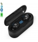 Compar Tekkiwear by DAM Headset TWS F9 Bluetooth 5.0 touch black