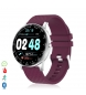 Compar Tekkiwear by DAM Smart H30 multisport bracelet with heart monitor, customisable burgundy dial