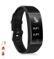 Compar Tekkiwear by DAM QW18T smart bracelet with body temperature measurement, heart monitor and black multisport mode