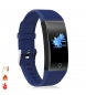 Compar Tekkiwear by DAM QW18T Smart Bracelet with body temperature measurement, heart rate monitor and blue multisport mode
