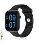 Compar Tekkiwear by DAM Smartwatch AW2 bluetooth 4.0 with heart rate monitor, sport mode and SIM option black
