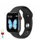Compar Tekkiwear by DAM Smartwatch T500 Plus multisport with black heart monitor