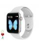 Compar Tekkiwear by DAM Smartwatch T500 Plus multisport with white heart monitor