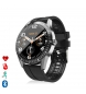 Compar Tekkiwear by DAM Y20 multisport smartwatch with heart rate monitor, waterproof, customisable dial black