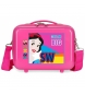 Neceser adaptable a trolley Blanca Nieves fucsia -29x21x15cm-