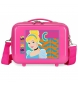 Neceser adaptable a trolley Cenicienta fucsia -29x21x15cm-