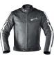 Dxr d63 chaqueta de cuero negro / blanco