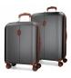 Compar El Potro Juego de maletas El Potro Ocuri antracita 55-70cm