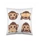 Cojín Emoji Monkey -40x40 cm-