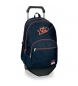 Mochila 44cm doble compartimento con carro Monsters -30,5x44x15cm-