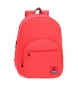 Mochila adaptable a carro Basic coral -32x46x15cm-