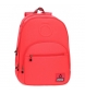 Mochila adaptable a carro Basic coral -32x46x17cm-