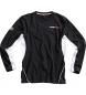 Camiseta deportiva Flm, brazo largo 2.0 negro