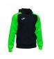 Compar Joma  Giacca con cappuccio e zip Academy IV nera, verde fluo