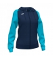 Compar Joma  Academy IV Zip-Up Hooded Jacket navy, turquoise