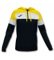 Compar Joma  Hooded Crew Jacket black, yellow