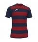 Compar Joma  T-shirt Europa IV rossa, blu scuro