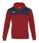 Comprar Joma  WINNER COTTON ROJO-MARINO HOODED SWEATSHIRT