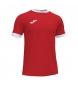 Compar Joma  T-shirt Aberta III vermelha, branca