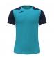 Compar Joma  T-shirt a maniche corte Record II turchese, blu navy