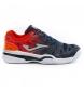 Zapatillas de tenis/padel Slam Jr. marino, naranja