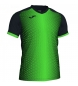 Compar Joma  SUPERNOVA T-SHIRT BLACK-FLUOR GREEN S/S