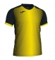 Comprar Joma  SUPERNOVA T-SHIRT BLACK-YELLOW S/S