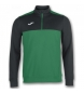 Compar Joma  SWEATSHIRT 1/2 ZIPPER WINNER GREEN-BLACK