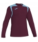 Compar Joma  Champion V burgundy t-shirt, light blue